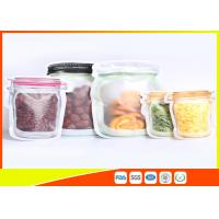 Best S / M / L Size Custom Jar Stand Up Zipper Stand Up Pouch Packaging Dry Food Packing wholesale