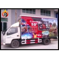 Cheap Mini 5D Movie Theaters with 6 Seats Motion Chair , Mobile 5D Cinema for sale