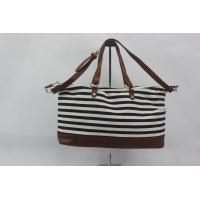 Cheap Black And White Custom Made Canvas Bags Women Standard , Long Life Time for sale