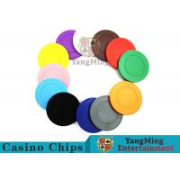 Best Roulette Dedicated Solid Color Plastic Poker Chips With Customized Print Logo wholesale