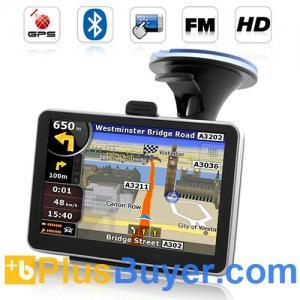 "Best Road Nav - 4.5"" Touchscreen GPS Navigator with FM Transmitter, Bluetooth wholesale"