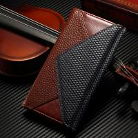 Flip PU IPhone Leather Wallet Case Magnetic Custom Litchi Crazy Horse