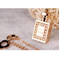 China Women Charm Stainless Steel Pendant Necklace Perfume Bottle Design For Party on sale