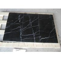 Best Black Marquina Marble Floor And Wall Tiles , Nero Marquina Marble Tiles Non Slip wholesale