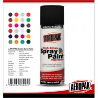 Cheap Metal / Wood / Glass Acrylic Spray Paint Flexible With Strong Adhesive for sale