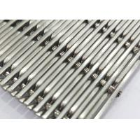Best White Steel Crimped Wire Mesh , Plain Weave Mesh Bright Smooth Wear Resistance wholesale