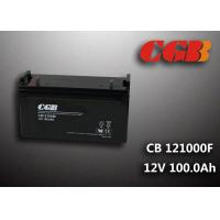 Best CB121000F 12V 100Ah Valve Regulated Lead Acid Battery , Wind Supply Energy Storage AGM Battery wholesale