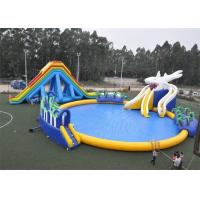 Best Colorful Appearance Inflatable Water Park 25mx25m Large Dimension CE Approved wholesale