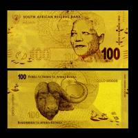Best 100 Rand South African Gold Foil Banknote Plated In 24K Fine Gold Leaf For Collection wholesale