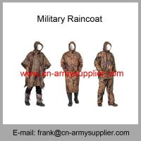 Best Wholesale Cheap China Army Use Outdoor Waterproof Military Raincoat wholesale
