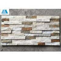 Ledgestone Wall Cladding : Details of mixed colors quartzite ledgestone panels