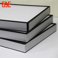 China 0.03mm Thickness High Volume HEPA Filter , Mini Pleat HEPA Filter With Fiberglass Material on sale