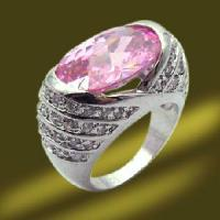 Best Copper CZ Ring with Big Pink Stone wholesale