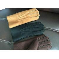 Best Handsewn Beige Warmest Sheepskin Gloves S M L XL For Protective Fingers wholesale