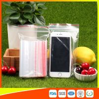 Cheap 10 x 15 Clear Reclosable Zipper Plastic Bag / Self Sealing Poly Bag for sale