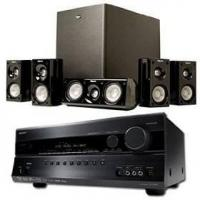 China Onkyo TX-SR607 Home Theater Receiver Bundle - 7.2 Channel, HDMI, 1080p, Klipsch HD500 Home Theater S on sale