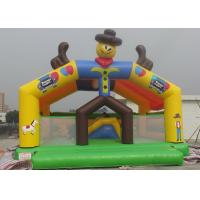 Best Clown Characters Inflatable Bouncy Castle Safe Plato PVC Tarpaulin BC-011 wholesale