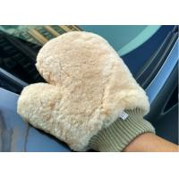 Best Lambswool Wash Mitt For Car Interior Cleaning , Lambswool Polishing Mitt  wholesale