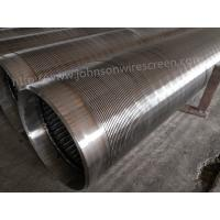Best 273mm Diameter Deep Well Water Well Screen 3 Meters Length With Welded Rings wholesale