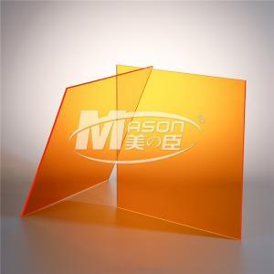 Best 3mm Acrylic Orange Perspex Sheet Cutting Perspex Plastic Board Sheet Plexiglass wholesale