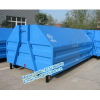 Buy cheap Inland factory supplied 7500 liters full sealed hooklift containers low price from wholesalers