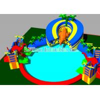 Best Mobile Large Inflatable Water Park With Swimming Pool 25M Dinosaur wholesale