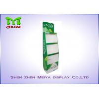 Cheap 3 Tiers Green color custom cardboard displays shelf  for LED bulbs for sale