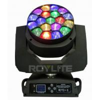 Best 19 X 15w Osram Bee Eye Moving Head Led Lights 4° - 60° Lens Rotate wholesale