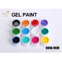 Best Pivate Label Nail Art Paint Gel , Soak Off Nail Gel Varnish With Long Days Lasting wholesale