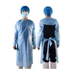 Best CPE Material Non Sterile Isolation Gown Waterproof Disposable Gown wholesale