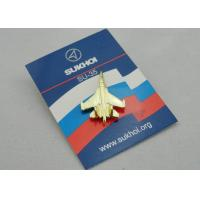 Best SU-35 Full Relief Die Spinning Pewter Soft Enamel Pin, Lapel Pins with Gold Plating for Promotion wholesale