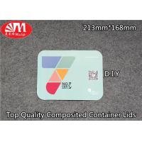 China Container Aluminium Foil Lid Composited Laminated Paper Can OEM Printing on sale