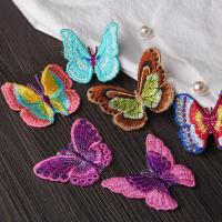 Best Small Butterfly Iron On Embroidered Applique Patches Cloth Badge For Clothes Customized wholesale