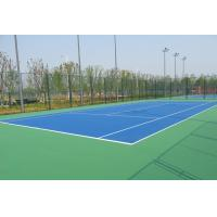 Best Tennis Court PU Sports Flooring Anti Slip With High Crystalline Silicone Buffer Coat wholesale