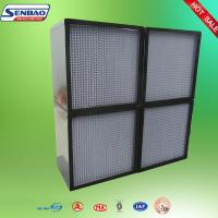 China H13 Central Air Conditioning Air Filter Aluminum Profiles AHU High Efficiency on sale