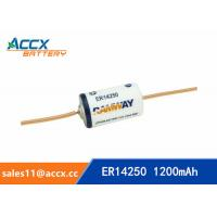 Best ER14250 with tabs, axis, 3.6V 1200mAh lithium thionyl chloride battery wholesale