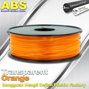 Best ABS Desktop 3D Printer Plastic Filament Materials Used In 3D Printing Trans Orange wholesale