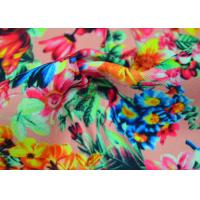 Best Twill Polyester Fabric / Patterned Printed Polyester With Heat Transfer wholesale