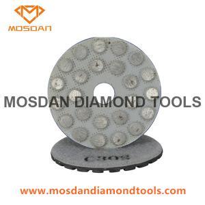 Best Black Aggressive Velcro Metal Dots Polishing Pucks Pads for Concrete wholesale