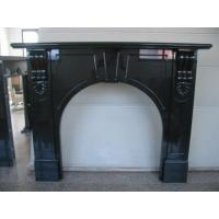 Best Absolute Bblack Granite Fireplace Surround , Indoor Stone Fireplace  Simple Decorating wholesale
