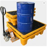 Best Poly Drum Spill Containment Pallets For 200L Oil Tank , 4 drum spill containment plastic pallets wholesale