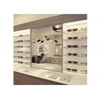 Best Sunglasses Shop Wall Mounted Display Cabinets With Clear Termpered Glass Shelf wholesale