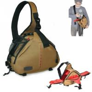 Cheap Caden K2 Shoulder camera Bag Triangle Carry Case (Khaki) for DSLR Sony Canon Nikon Camera for sale