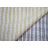 Best Woven Technics Blended Striped Jacquard Fabric Soft Touch For Dress wholesale