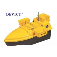 Best DEVC-203 RC Fishing Bait Boat Yellow ABS Plastic 4-5 Class Wave Resistance wholesale