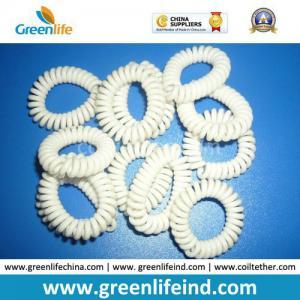Best Solid White Plastic Coil Wrist Bracelet Safe Holder wholesale