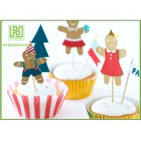 Best Funny Kids Birthday Cake Toppers , Party Food Picks Bowling Cake Decorations wholesale
