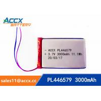 Best pl446579 3.7V 3000mAh rechargeable lipo battery for DVD player, mobile phone 446579 li-ion polymer battery wholesale