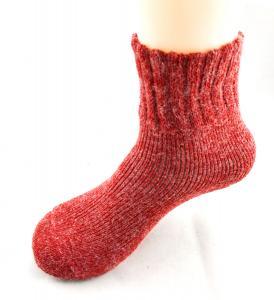 Best Customized Soft 72 Needles Modeled Rabbit Hair Women's Red Terry Loop Socks,  Function socks wholesale