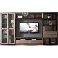 Buy cheap 2017 New Walnut Wood Furniture Design Living room Combined TV Wall Units by Tall from wholesalers